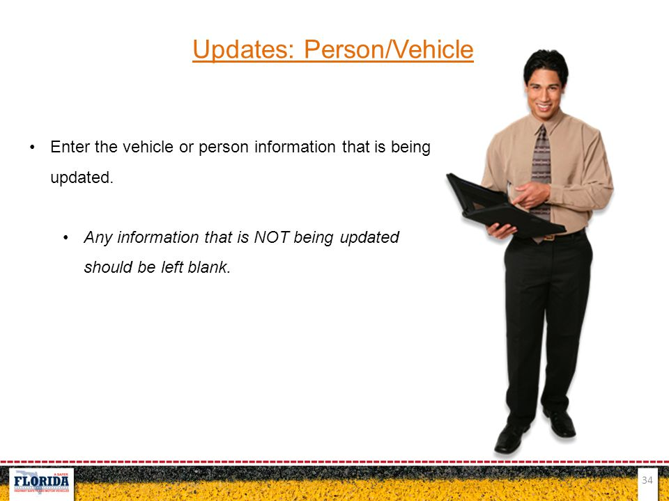 Updates: Person/Vehicle