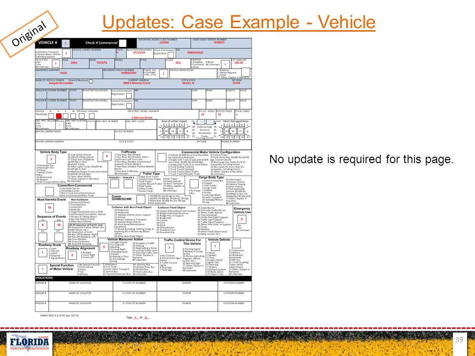 Updates: Case Example - Vehicle