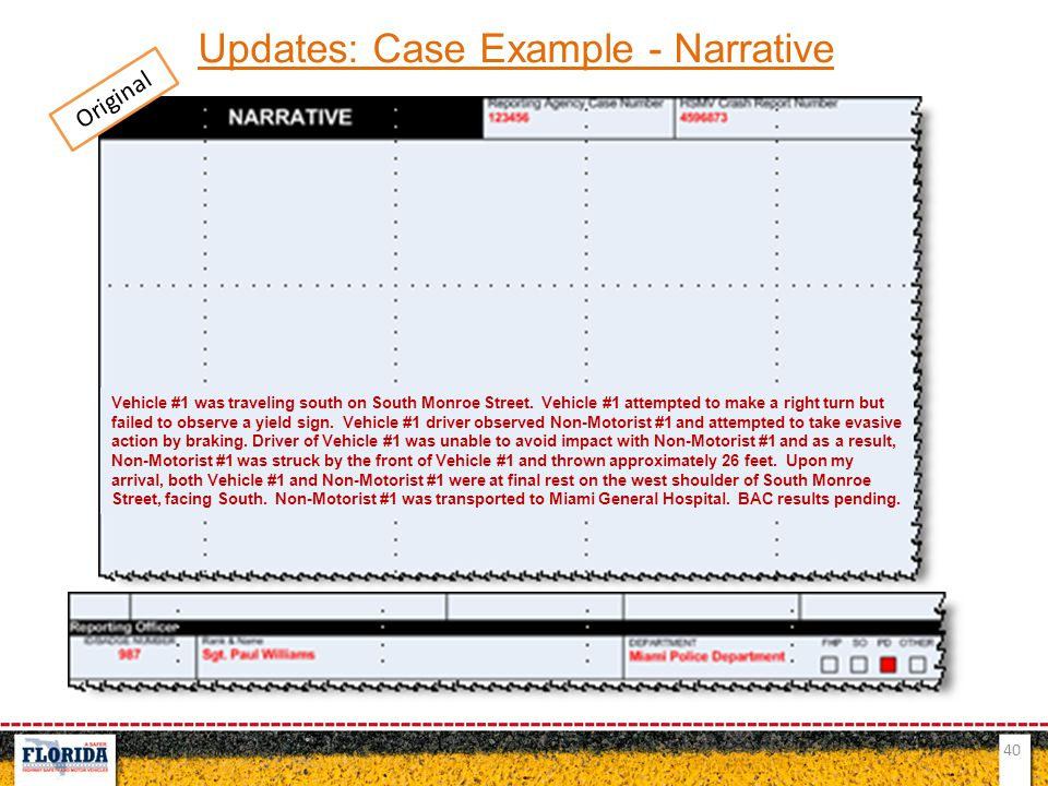 Updates: Case Example - Narrative