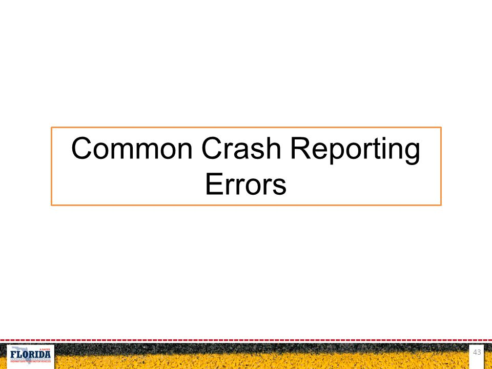 Common Crash Reporting Errors