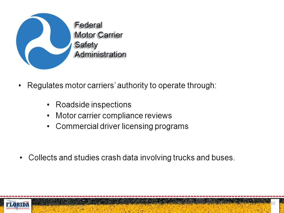 Regulates motor carriers' authority to operate through: