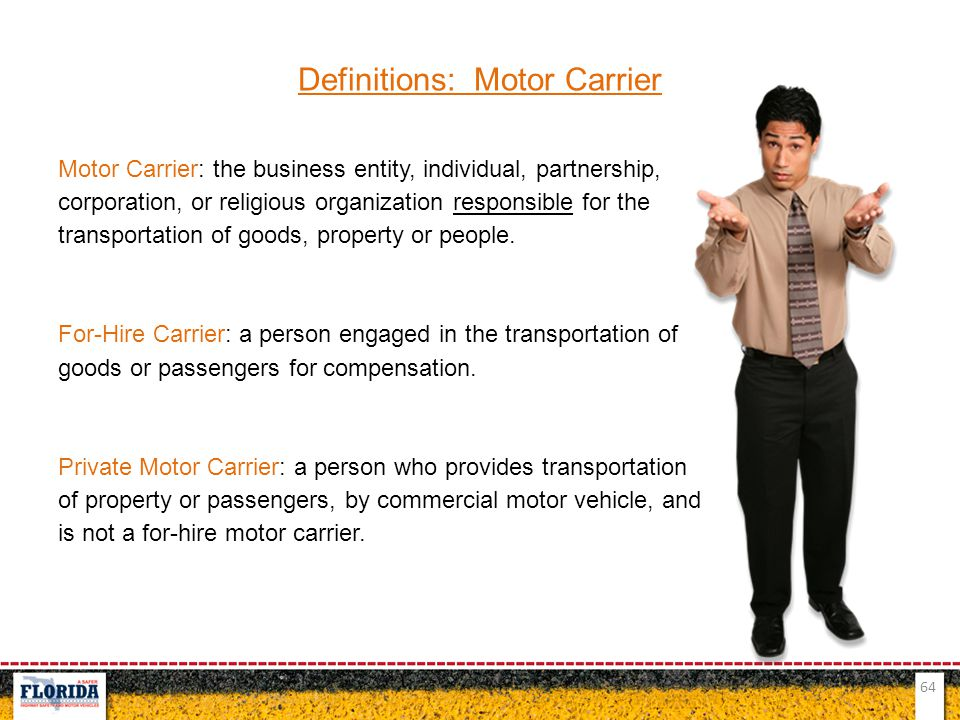 Definitions: Motor Carrier