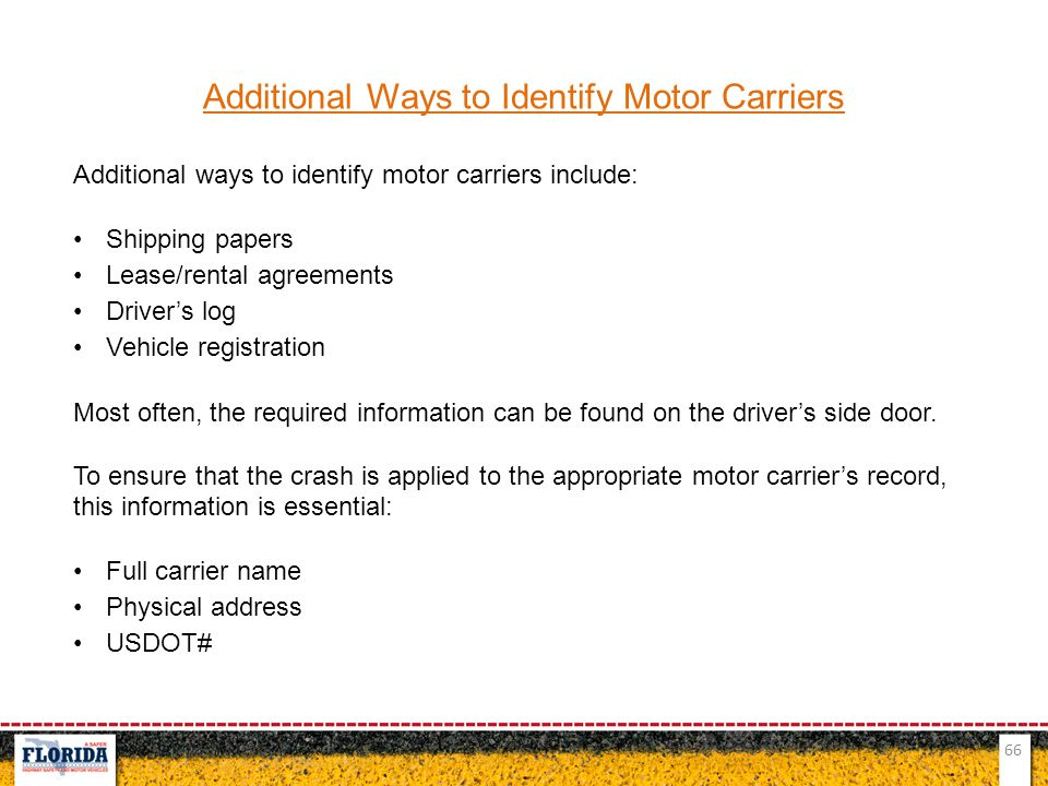 Additional Ways to Identify Motor Carriers
