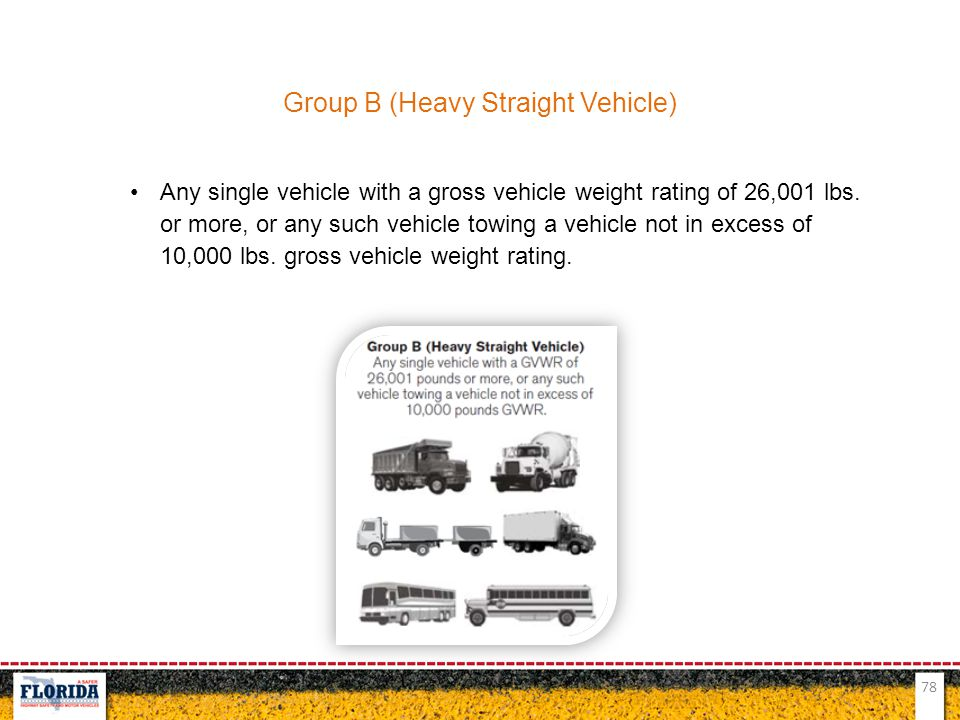 Group B (Heavy Straight Vehicle)