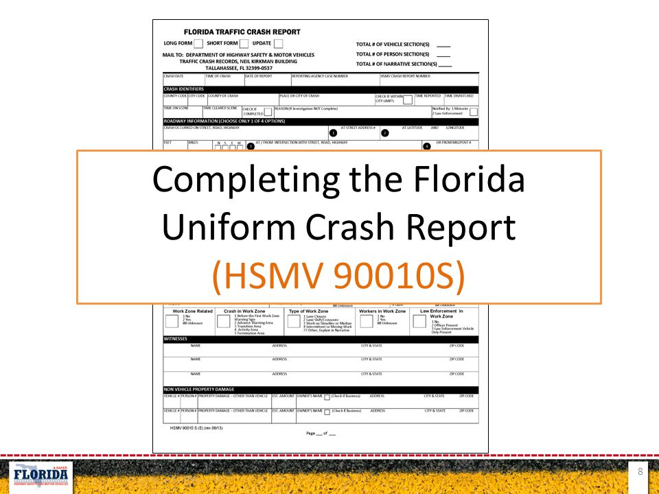 Completing the Florida Uniform Crash Report