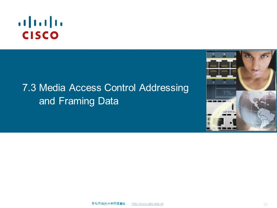 7.3 Media Access Control Addressing and Framing Data