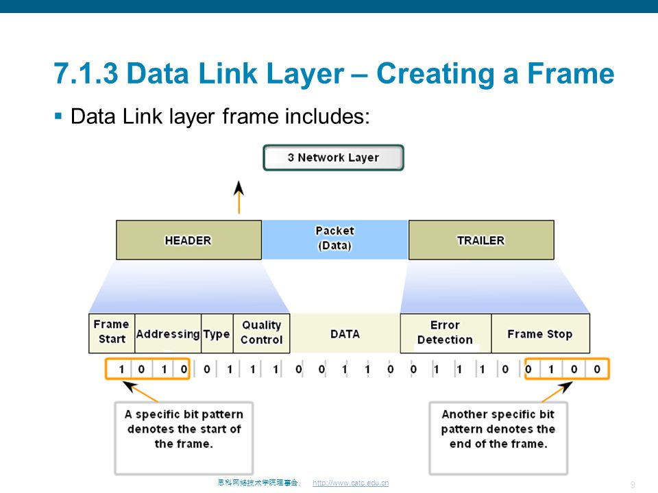 7.1.3 Data Link Layer – Creating a Frame