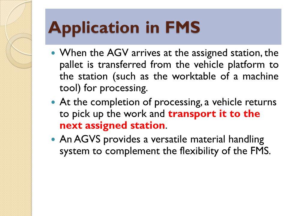 Application in FMS