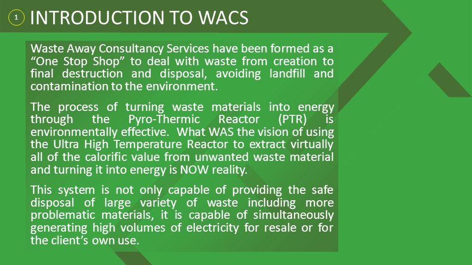 INTRODUCTION TO WACS 1.