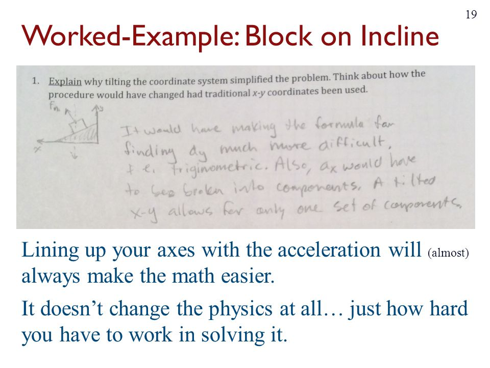 Worked-Example: Block on Incline