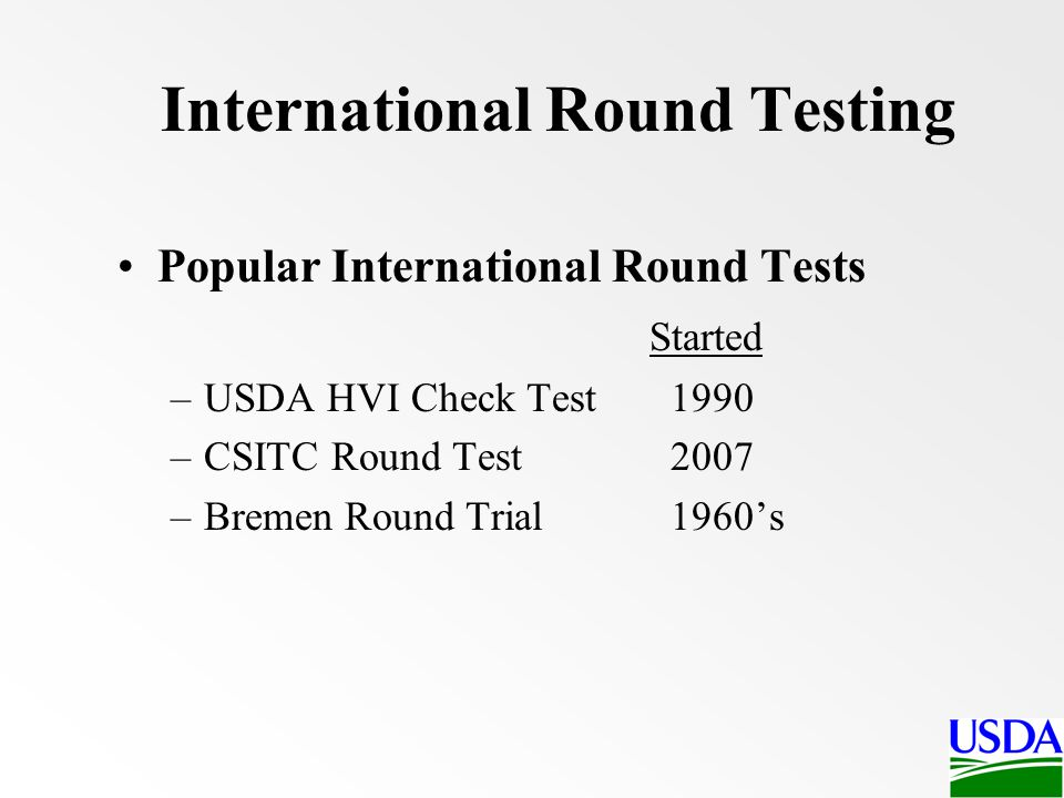 International Round Testing