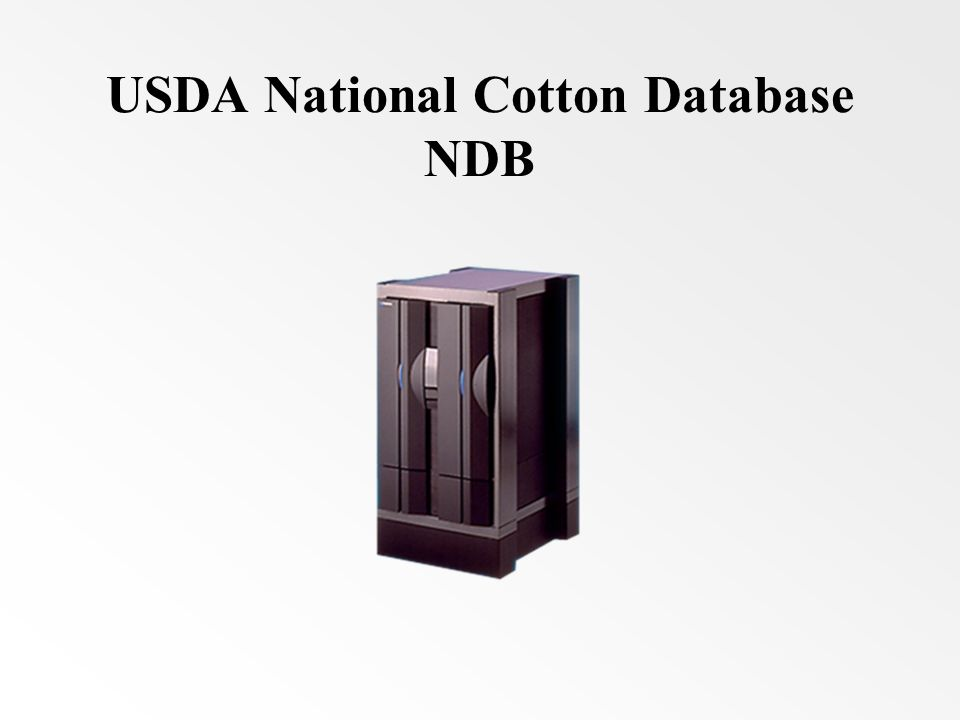 USDA National Cotton Database NDB