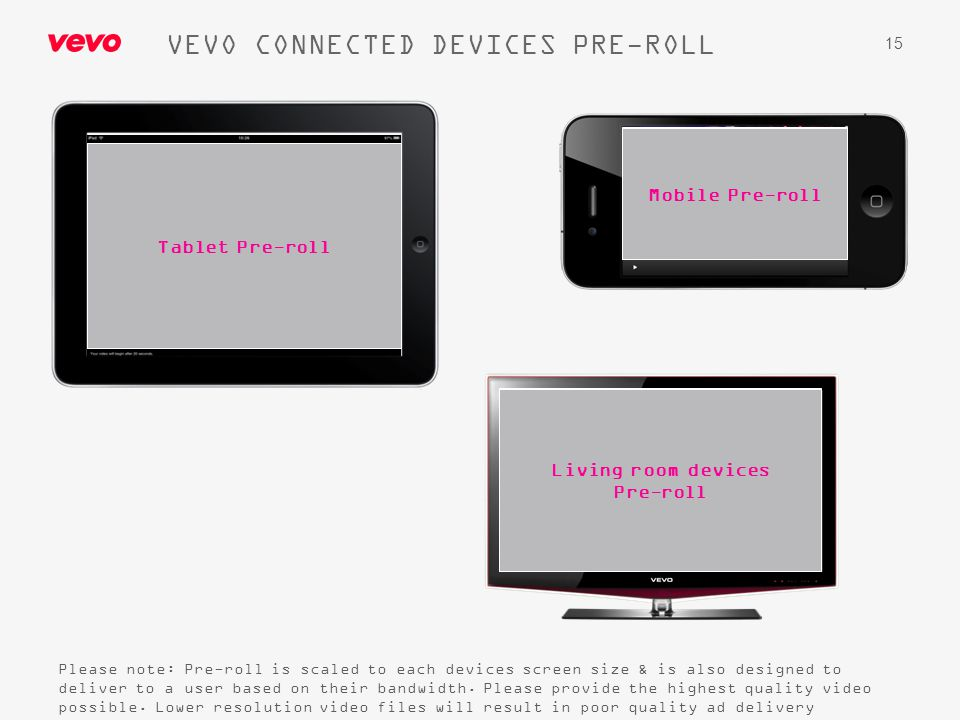 VEVO CONNECTED DEVICES PRE-ROLL