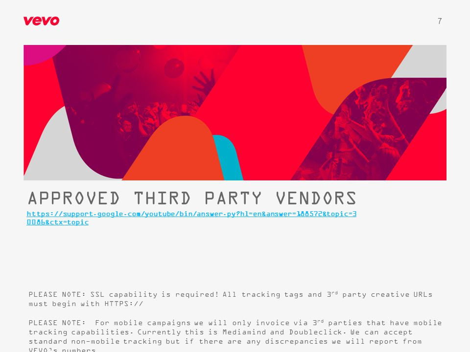 APPROVED THIRD PARTY VENDORS