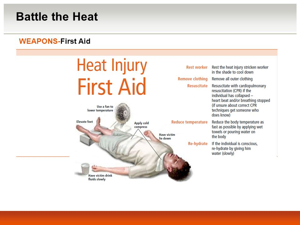Battle the Heat WEAPONS-First Aid