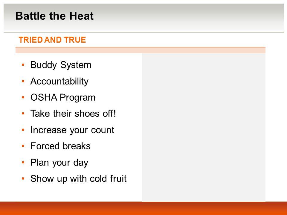 Battle the Heat Buddy System Accountability OSHA Program