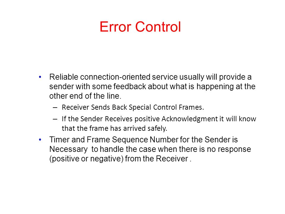 Error Control