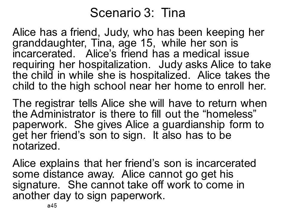 Scenario 3: Tina