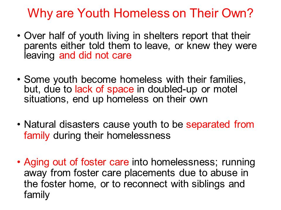 Why are Youth Homeless on Their Own
