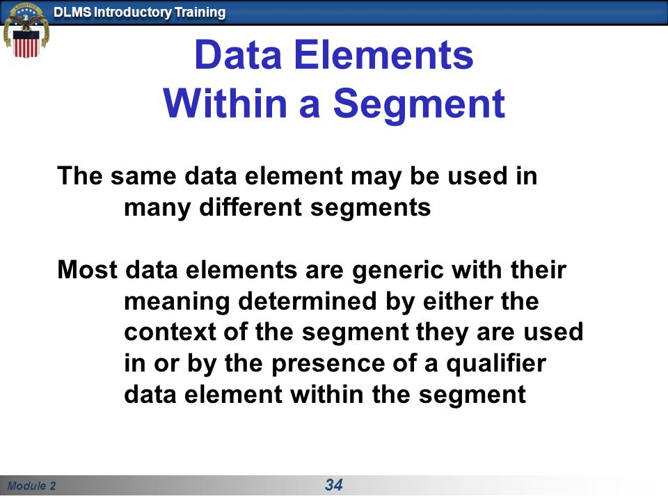 Data Elements Within a Segment