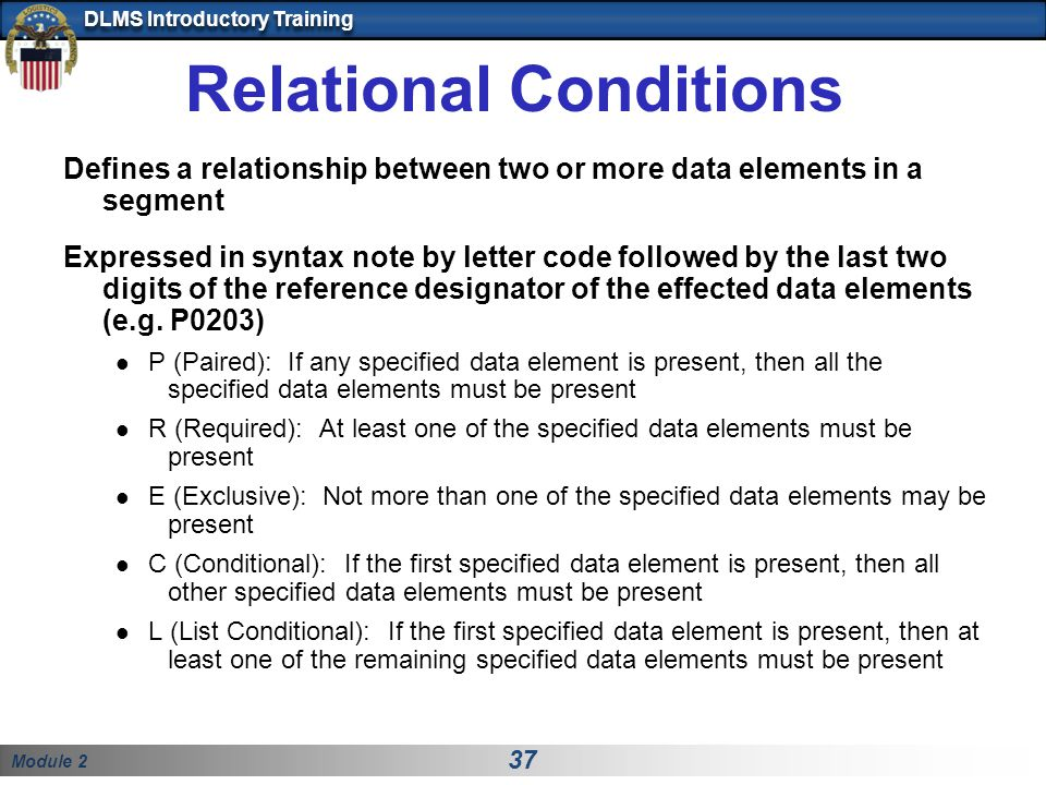 Relational Conditions