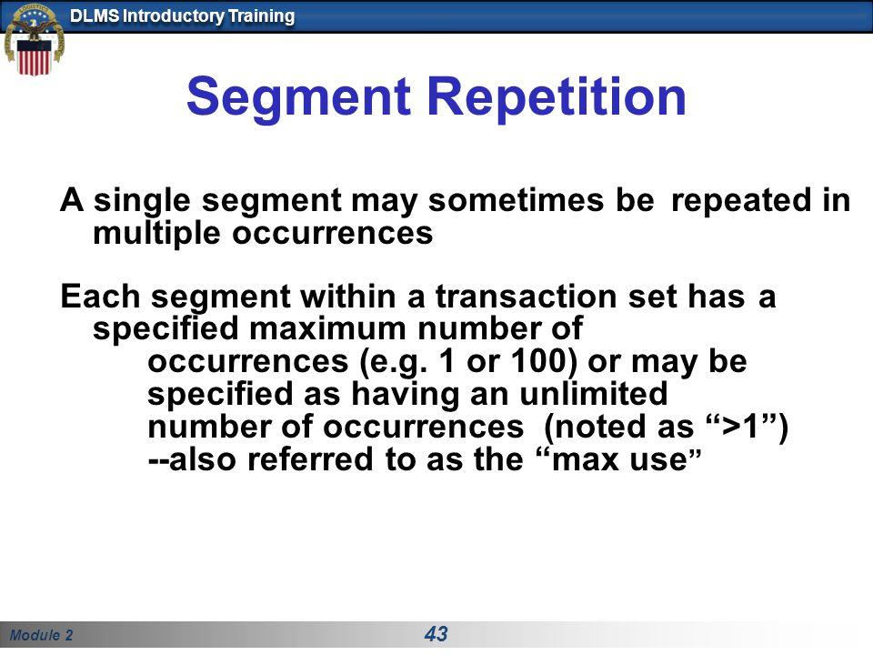Segment Repetition