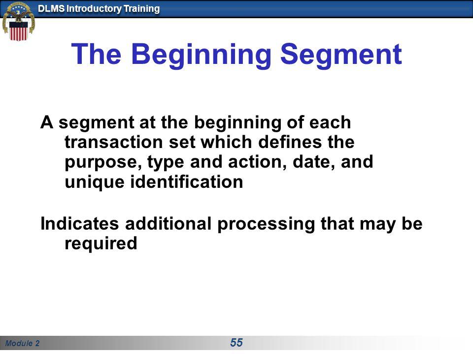 The Beginning Segment