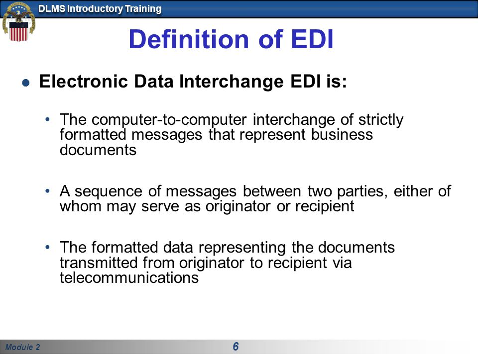 Definition of EDI Electronic Data Interchange EDI is: