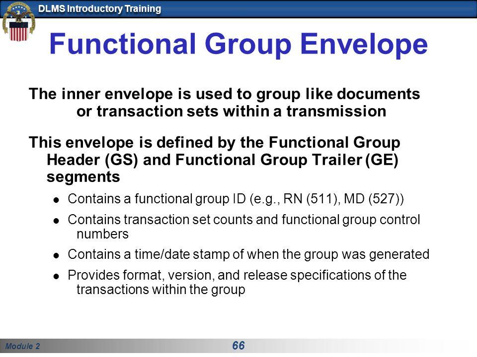 Functional Group Envelope
