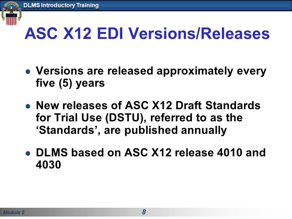 ASC X12 EDI Versions/Releases