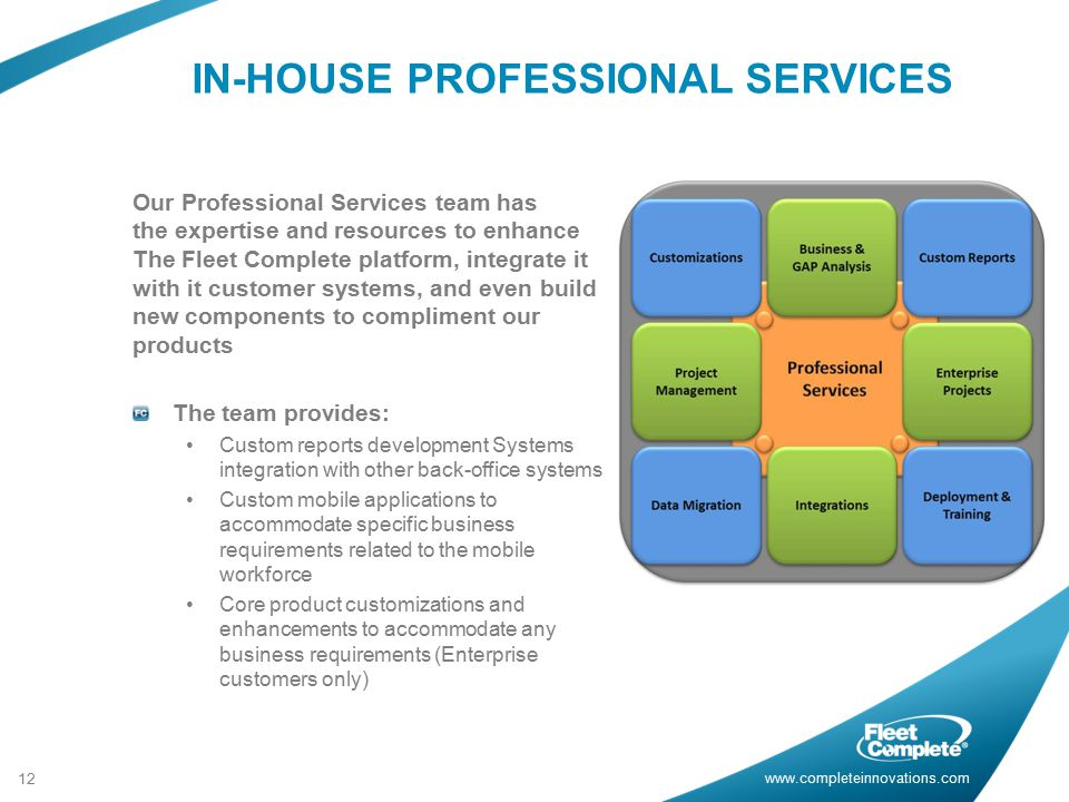 IN-HOUSE PROFESSIONAL SERVICES