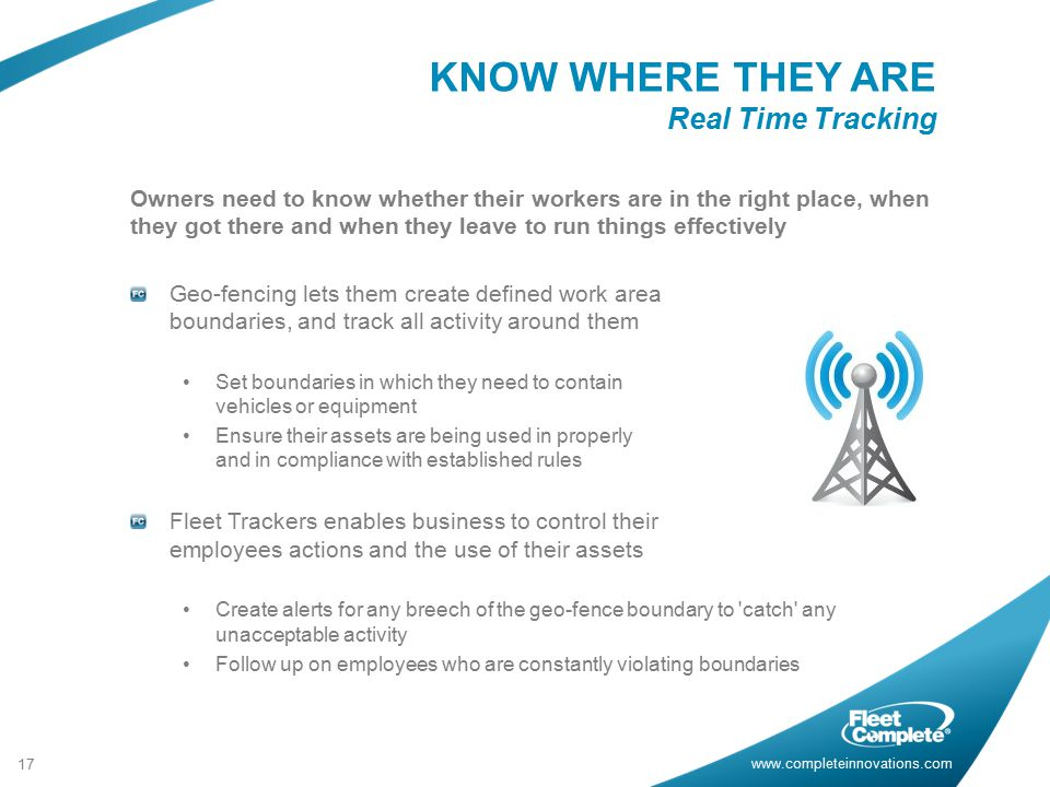 KNOW WHERE THEY ARE Real Time Tracking