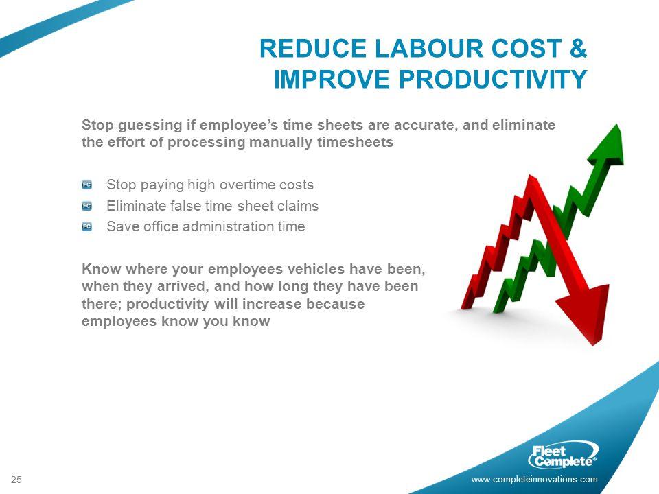 REDUCE LABOUR COST & IMPROVE PRODUCTIVITY