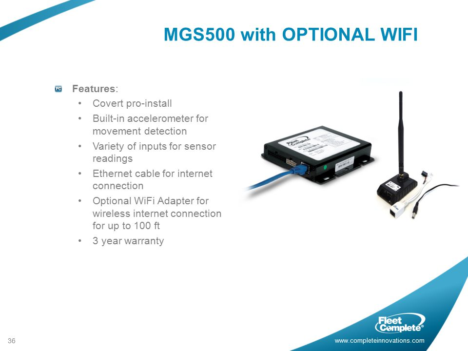 MGS500 with OPTIONAL WIFI Features: Covert pro-install