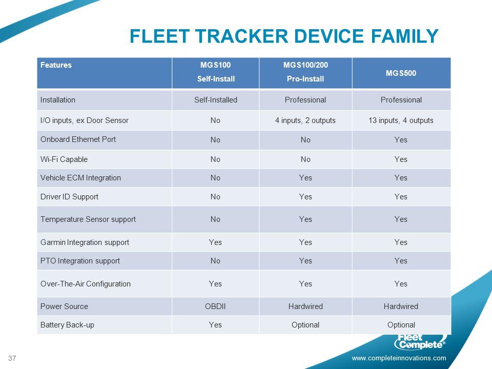 FLEET TRACKER DEVICE FAMILY