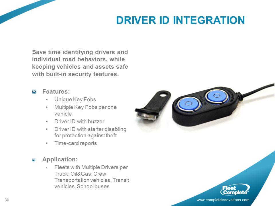 DRIVER ID INTEGRATION