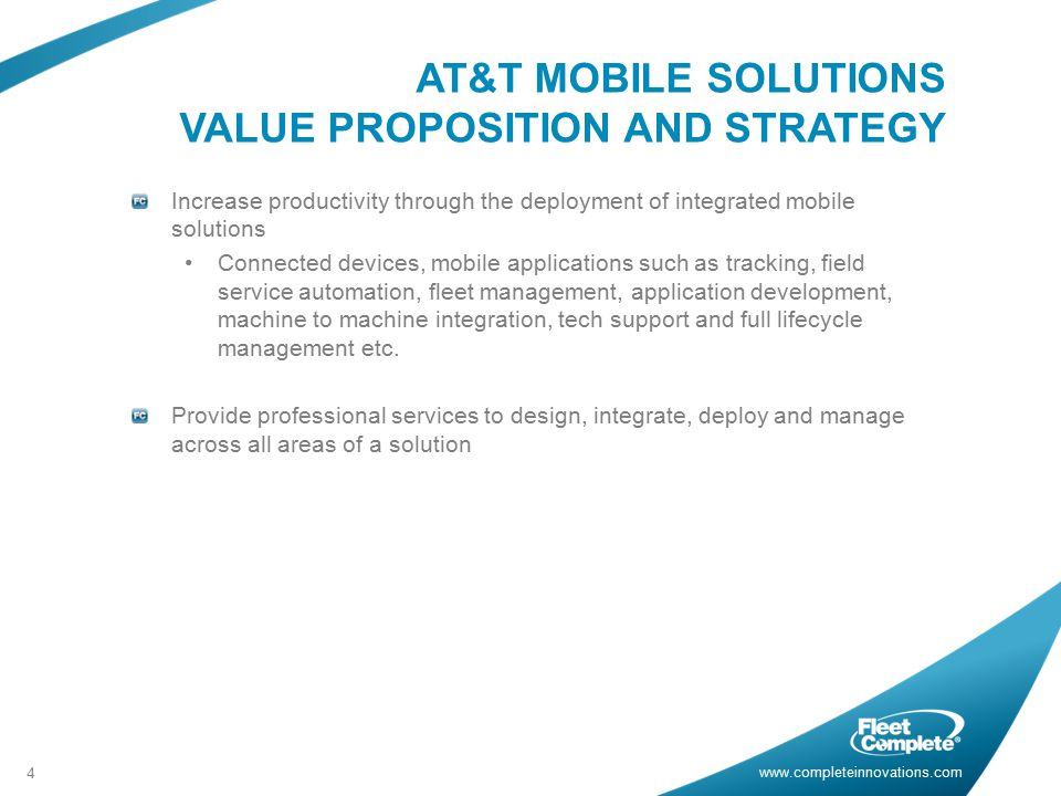 AT&T MOBILE SOLUTIONS VALUE PROPOSITION AND STRATEGY