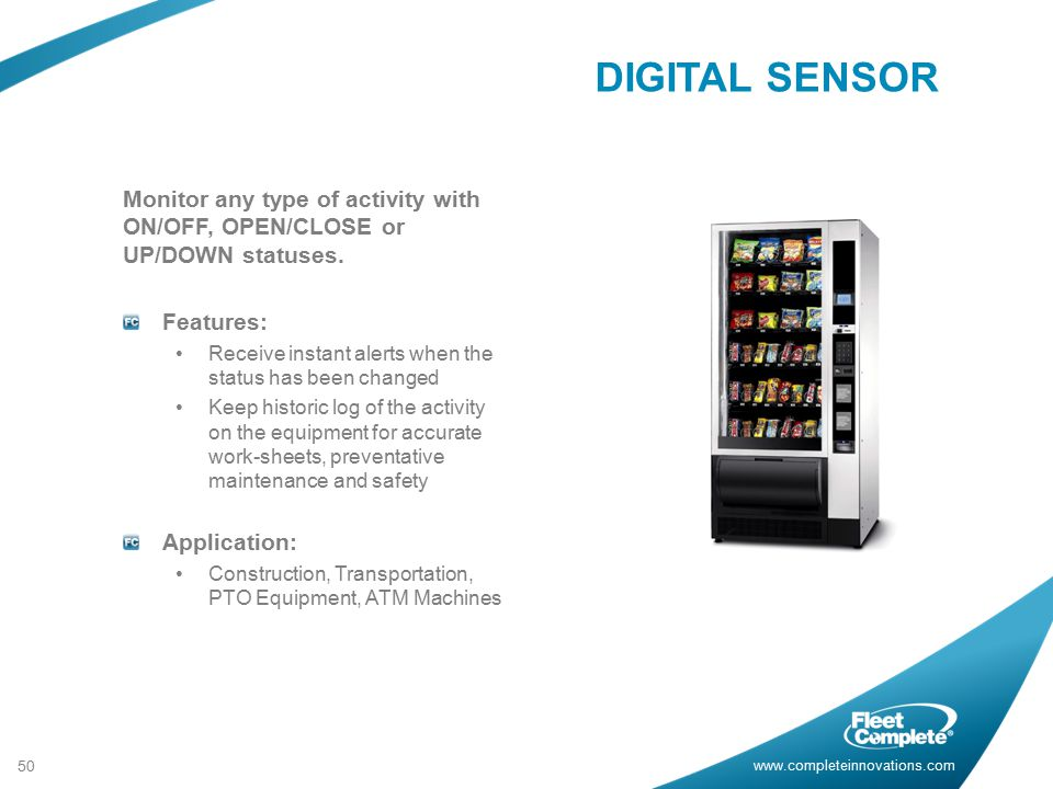 DIGITAL SENSOR Monitor any type of activity with ON/OFF, OPEN/CLOSE or UP/DOWN statuses. Features: