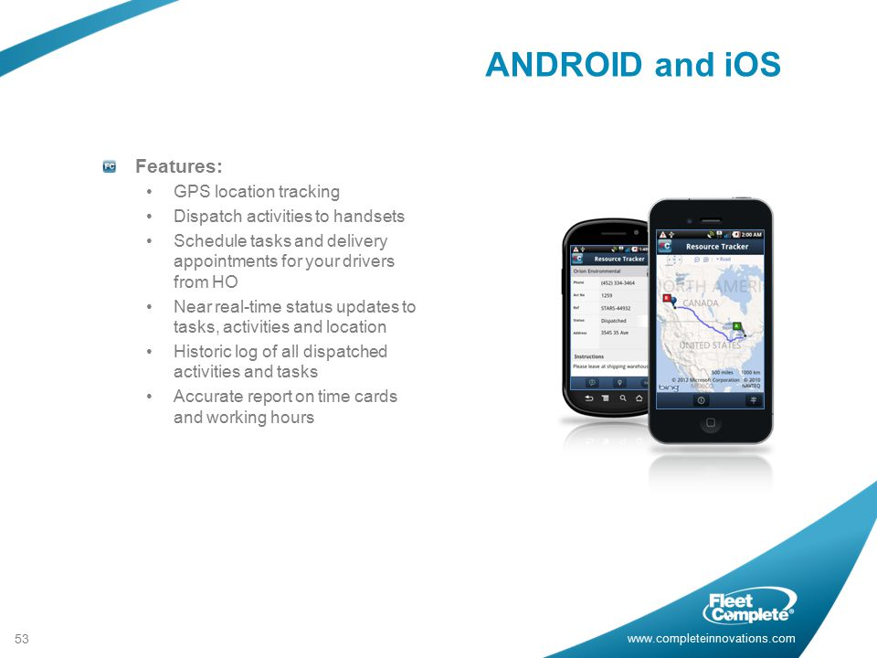 ANDROID and iOS Features: GPS location tracking