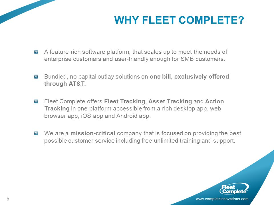 WHY FLEET COMPLETE