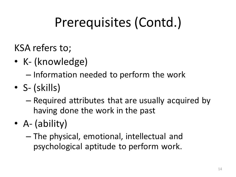 Prerequisites (Contd.)
