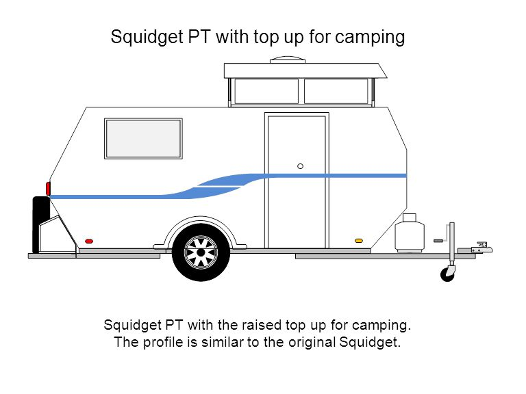 Squidget PT with top up for camping