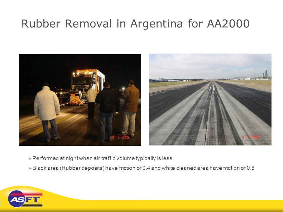 Rubber Removal in Argentina for AA2000