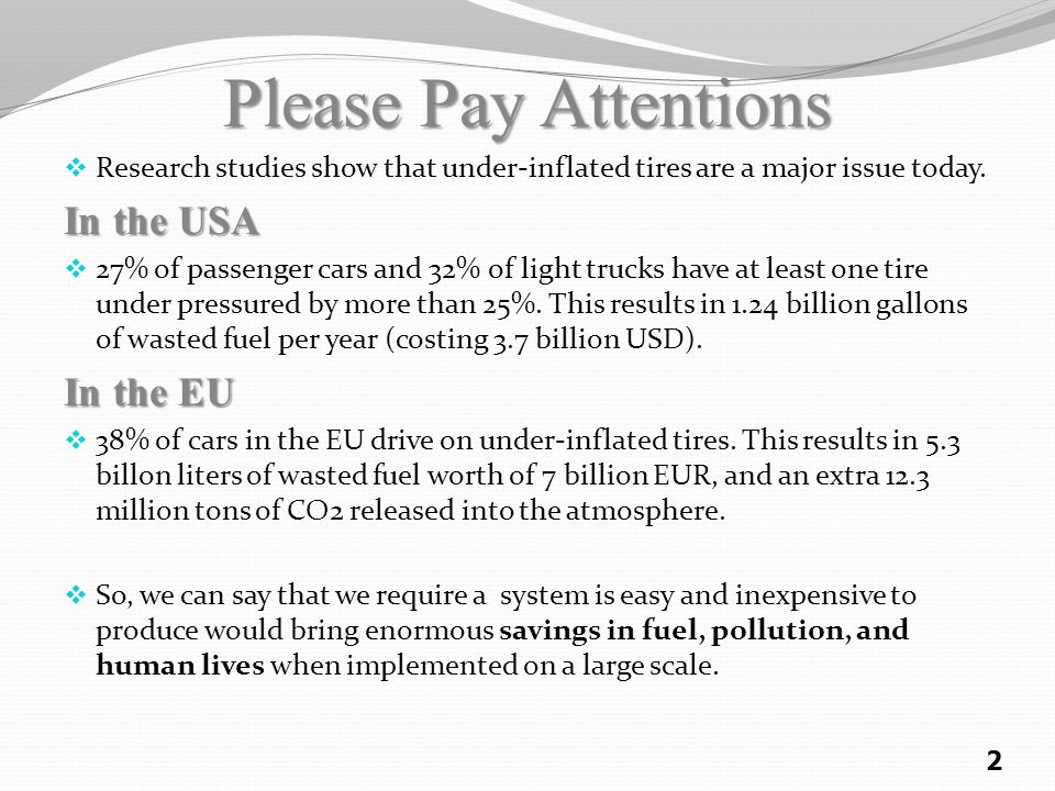 Please Pay Attentions In the USA In the EU