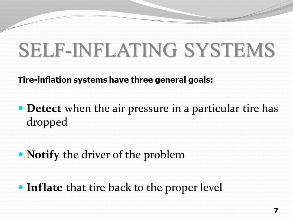 SELF-INFLATING SYSTEMS