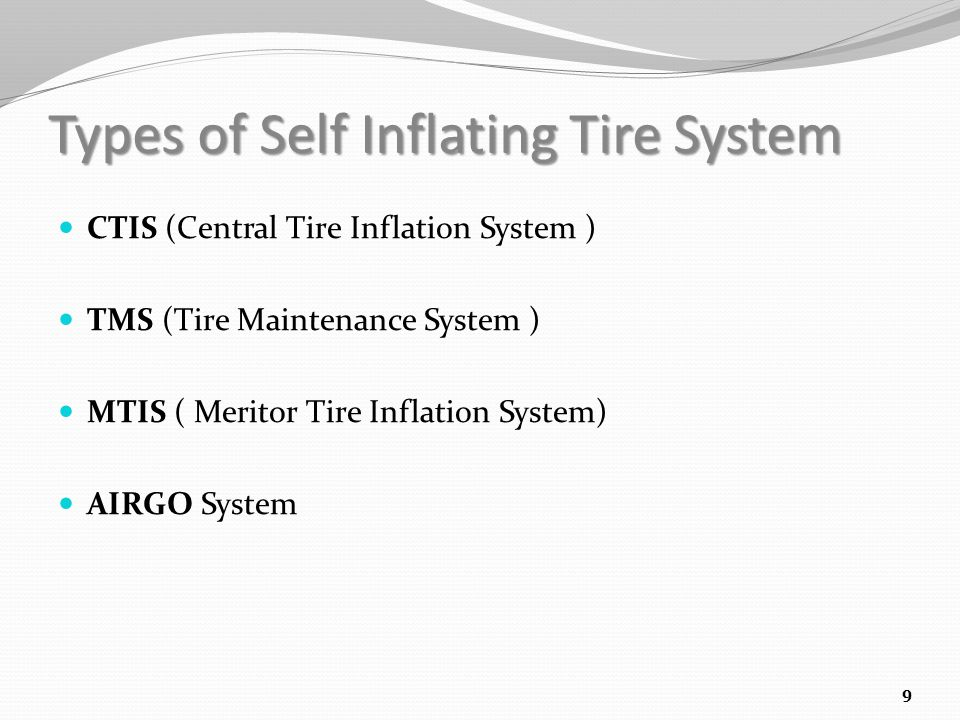 Types of Self Inflating Tire System
