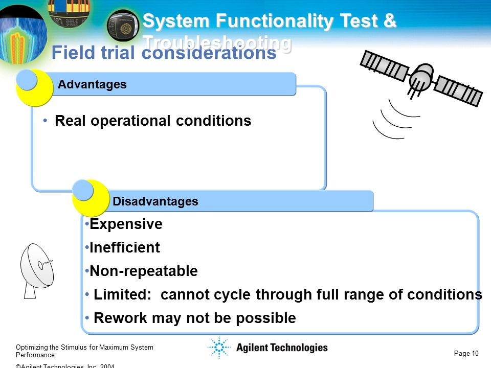 Main Point: Pros & cons of field tests
