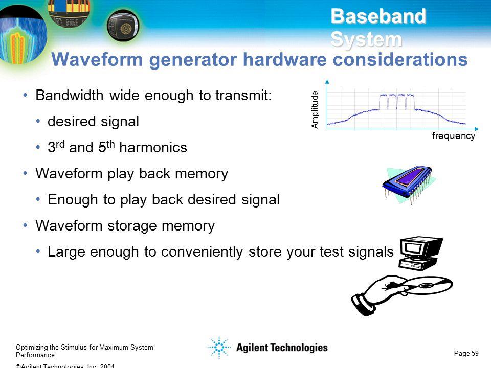 Baseband System Waveform generator hardware considerations