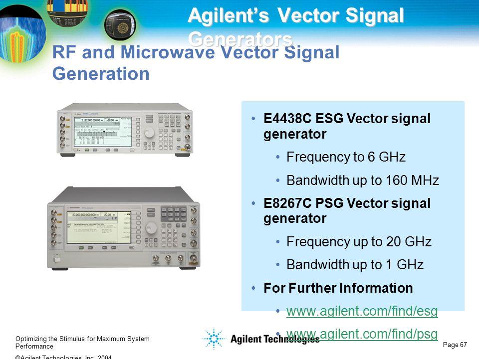 Agilent's Vector Signal Generators