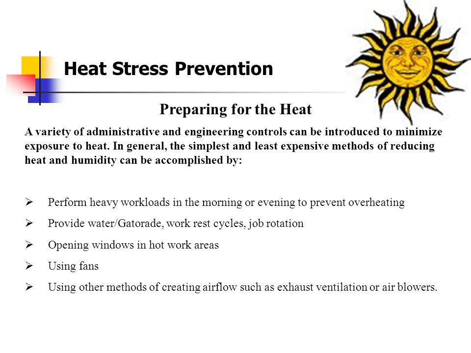 Heat Stress Prevention